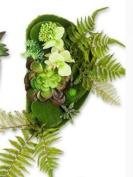 SU@DA Creative Footprint Simulation Flower Decorative Painting European Pastoral Style Backdrop Project Scene 1pcs , trumpet rainforest a