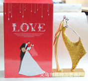SU@DA Crafts European Style Creative Resin Plating Couple Character Decoration Wine Cabinet Wedding Gifts Valentine 's Day , 22482 gold