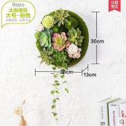 SU@DA Creative home living room wall decoration walled pastoral simulation plant grass pendant free combination , large pink sun