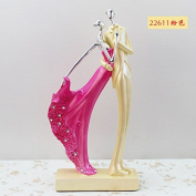 SU@DA Crafts European Style Creative Resin Plating Couple Character Decoration Wine Cabinet Wedding Gifts Valentine 's Day , 22611 pink
