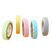 Gespout 5x Washi Decorative Tape DIY Masking Tape Rainbow Rainbow For Scrapbooking Decoration