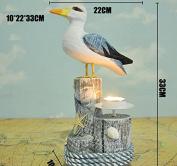 SU@DA Seabird Decoration Wooden Crafts Simulation Animals Carving Handmade Gifts Pastoral