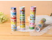 Yeah67886 Lovely Mixed Colours Cartoon Tape Hobby Decorative Crafting Tape Random Colours