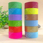 PandaHall 10 Rolls DIY Rainbow Decorative Paper Tape for Scrapbooks, DIY Crafts and Gift Wrapping, 15mm; 5m/roll