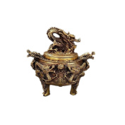 PENG Chinese Antique Bronze Bunny Pearl Chestnut Incinerator Fragrance Furnace Antique Craft