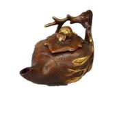 PENG Chinese antique bronze wholesale antique pure copper gilt pot pendulum pot kettle pot teapot decorations