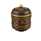 PENG Chinese antique miscellaneous pieces wholesale antique brass double dragon flower cover jar