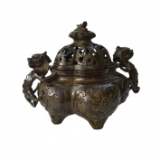 PENG Chinese bronze handicrafts manufacturers wholesale bronze antique do old incense burner ornaments