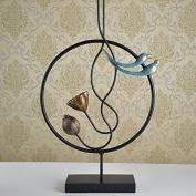 JY$ZB Minimalist/modern hardware build/Lotus/bird/sculptures/ornaments/furniture/home furnishings/A 72*11*60cmB, 48*11*86.5cm , black b models 48*11*86.5cm