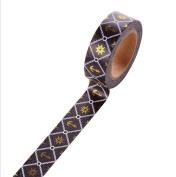 Cosanter 5PCS Washi Tape Anchor Rudder Pattern Masking Adhesive Tape for Scrapbooking Office Wedding