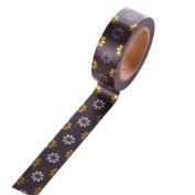 Cosanter 5PCS Washi Tape Cute Flower Masking Adhesive Tape for Scrapbooking DIY Office Gift Wedding