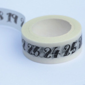 Number Themed Washi Paper Tape - 7m x 15mm - Paper Crafts
