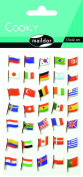 """Maildor Cooky """"Flags"""" Stickers, Multi-Colour"""