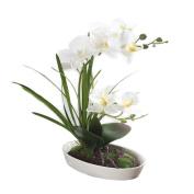 HimanJie Artificial Silk Flowers Phalaenopsis Bonsai Simulation Potted Flowers