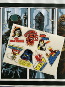 Star Wars Vintage Custom repro die cut stickers decals labels A New Hope 1977 character stickers