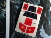 Star Wars Vintage Custom repro die cut stickers/decals/labels Droids ATL Interceptor 1997