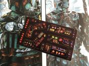 Star Wars Vintage Custom repro die cut stickers/decals/labels Death Star Playset