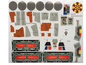 Star Wars Vintage Custom repro die cut stickers/decals/labels Millennium Falcon 1979