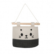 Fanxing New Fashion Cotton Cartoon Cat Hanging Storage Bag Debris Pouch Wall Combination
