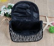 Kanggest 1Pcs Women Ladies Cosmetic Bag Stylish Handbag Portable Zebra Toiletry Bag Makeup Case Bag Zipper Travel Storage Organiser