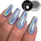 1.0 g Holographic Unicorn Rainbow Nail Powder Silver Chrome Mirror Laser Effect