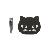 Sass & Belle Black Cat Nail Buffer & Clippers