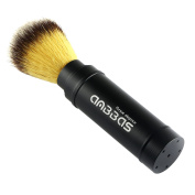 Travel Shaving Brush, Anbbas Faux Badger Hair Shaving Brush with Long Aluminium Handle, Portable Perfect for Travel Home