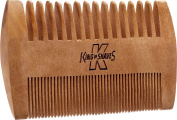 King of Shaves Pear Wood Anti-Static Beard Comb