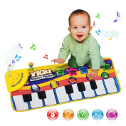 Baby Kids Keyboard Musical Piano Dancing Mat Crawl Mat Soft Funny Animals Baby Toy Blanket Touch Play Learn Singing Gift Carpet Kids Baby Piano Toy