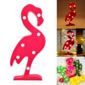 GB UNICORN LED Night Light Lamp Kids Flamingo Lights shape Signs Light Up Christmas Party Wall Decoration Battery Operated