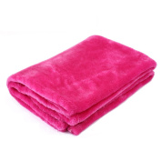 Kicode Fleece Warm Double Coral Soft Air Conditioner Throw Blanket Smooth For Kids Travel Flannel Sofa Solid Colour
