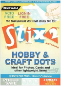 Stix2 48 Removable 10mm Hobby & Craft Glue Dots Sheets Acid Free Adhesive