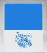 INDIGOS UG Sichtschutzfolie Glasdekorfolie Fensterfolie mit Motiv satiniert blickdicht - w651 Partei schöne Schmetterlinge und Blumen - individuelle Länge in 10 cm Schritten - Viereck