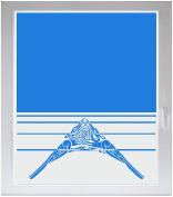 INDIGOS UG Sichtschutzfolie Glasdekorfolie Fensterfolie mit Motiv satiniert blickdicht - w285 Ornament, Orien - individuelle Länge in 10 cm Schritten - Streifen