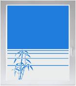 INDIGOS UG Sichtschutzfolie Glasdekorfolie Fensterfolie mit Motiv satiniert blickdicht - w334 Blatt Schilf Pflanze Moor Teich - individuelle Länge in 10 cm Schritten - Streifen