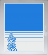 INDIGOS UG Sichtschutzfolie Glasdekorfolie Fensterfolie mit Motiv satiniert blickdicht - w368 Tribal Kreise Wandauskleber - individuelle Länge in 10 cm Schritten - Streifen