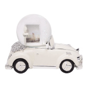 Just Married Car with Water Globe Photo Frame & Music Box