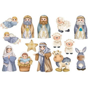 Thermoformable Rubber Foam Board, 30 x 20 cm, about Christmas Nativity Scene