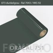 Oracal 751 Self-Adhesive Films for Furniture High-Gloss 63 cm Roll 5 m, dark grey, 5 m (L) x 63 cm