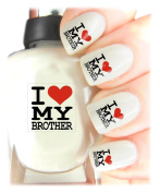 Easy to use, High Quality Nail Art Decal Stickers For Every Occasion! Ideal Christmas Present / Gift - Great Stocking Filler I Love My Brother
