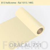 Adhesive Foil for Kitchen Cabinets - Oracal 751 - 63cm Roll - 10m | High Gloss - 10m x 63cm width, light cream