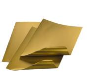 Metallfolie, Alufolie 0,15 mm stark, 200x300mm, 3 Stk., Gold