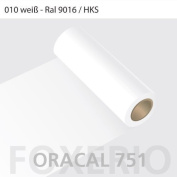 Oracal 751 Self-Adhesive Foil High Gloss for Kitchen Cupboards 63 cm Roll 10m 10m (Laufmeter) x 63cm (Breite) white