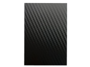 A4 Black Carbon Fibre Effect Vinyl Self Adhesive Sheet Grade A Quality, Craft Robo Silhouette Cameo