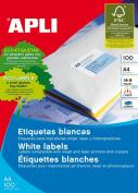 Apli 002140 - Box of 100 white labels for printer 70X35