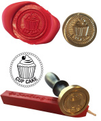 Wax Stamp, CUP CAKE Seal and Red Wax Stick XWSC006-KIT