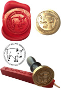 Wax Stamp, PIG Farm, Farming Coin Seal and Red Wax Stick XWSC186-KIT