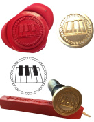 Wax Stamp, PIANO Musical Instrument Seal and Red Wax Stick XWSC007-KIT