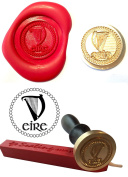 Wax Stamp, EIRE Ireland Irish Coin Seal and Red Wax Stick XWSC086-KIT