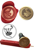Wax Stamp, BAG PIPES Scotland Scottish Coin Seal and Red Wax Stick XWSC227-KIT